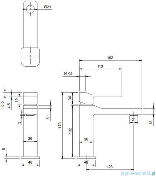 Omnires Slide Bateria umywalkowa sztorcowa chrom SL7710CR
