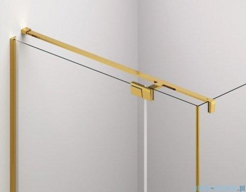 SanSwiss Cadura Gold Line drzwi wahadłowe 70 cm jednoczęściowe prawe z profilem przyściennym CA1CD0701207