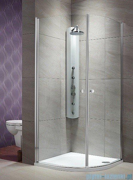 Radaway Eos PDD kabina prysznicowa 100x100 szkło przejrzyste + brodzik Patmos A + syfon