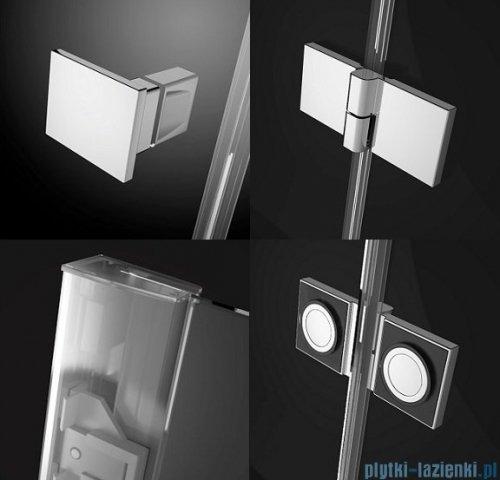 Radaway Essenza New Kdj+S kabina 90x90x90cm prawa szkło przejrzyste + brodzik Doros C + syfon