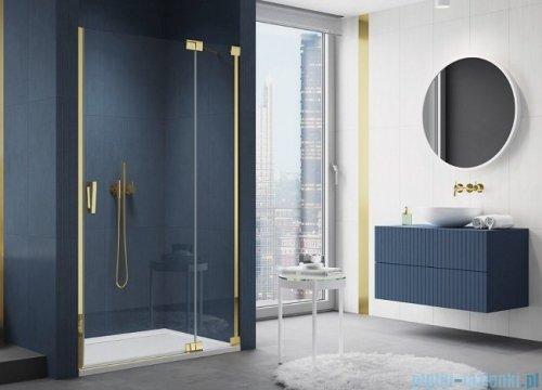 SanSwiss Cadura Gold Line drzwi wahadłowe 100cm jednoczęściowe prawe z polem stałym CA13D1001207