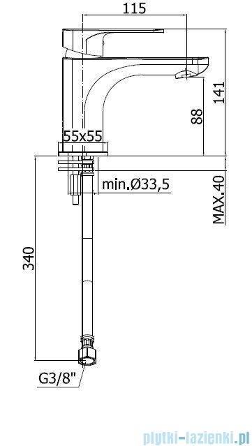 Paffoni Sly Bateria umywalkowa chrom SY071CR