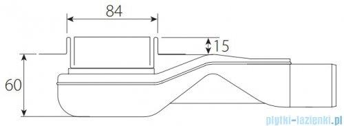 Wiper New Premium Pure Odpływ liniowy z kołnierzem 60 cm szlif 100.1973.02.060