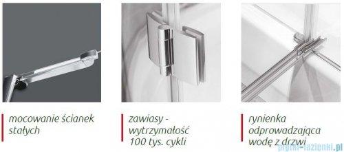 Atrium Torino kabina pięciokątna 90x90x195 cm szkło: przejrzyste AD09B