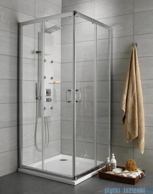 Radaway Premium Plus C Kabina kwadratowa 90x90 szkło grafitowe