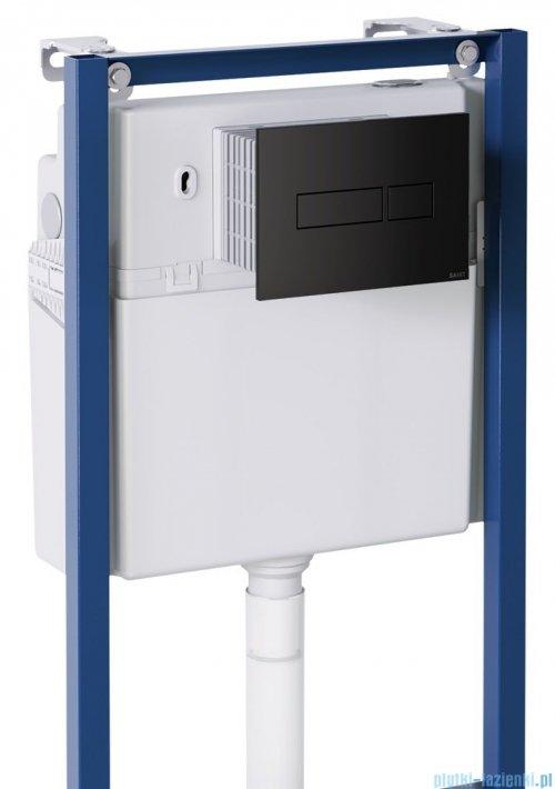 Omnires Denver podtynkowy zestaw WC z miską + deską wolnoopadającą + przycisk czarny DENVERSETBPBL