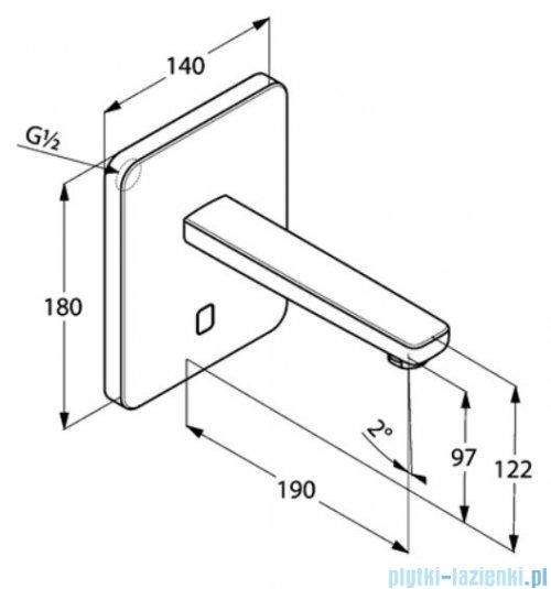 Kludi Zenta ścienny elektroniczny zawór umywalkowy 3850205