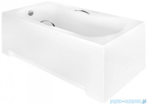 Besco Aria Plus 130x70cm wanna prostokątna z uchwytami + obudowa + syfon