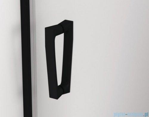 SanSwiss Cadura Black Line drzwi przesuwne 130cm jednoskrzydłowe prawe z polem stałym profile czarny mat CAS2D1300607