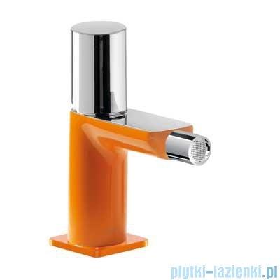 Tres Loft Colors Bateria bidetowa z korkiem automatycznym kolor pomarańczowy 200.120.02.NA.D