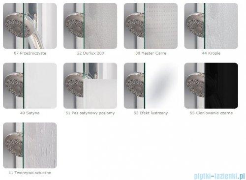 SanSwiss TOPP2 Drzwi 2-częściowe 90-120cm profil srebrny TOPP2SM20107
