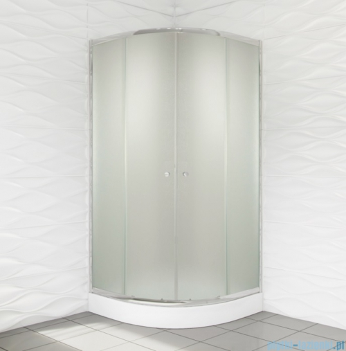 Duso kabina prysznicowa półokrągła 90x90x184cm chinchilla DS402C