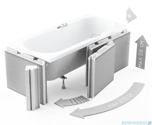 Zabudowa styropianowa elastyczna Schedpol z rantem 5cm do wanien 1.050