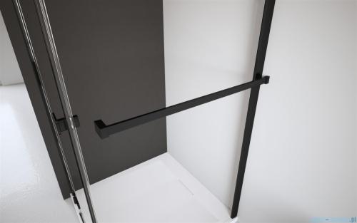 Radaway Idea Black Pnj parawan nawannowy 60cm L/P przejrzyste wieszk na ręcznik