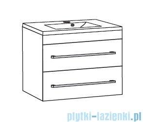 Antado Variete ceramic szafka z umywalką ceramiczną 2 szuflady 72x43x50 szary połysk 670990/666788