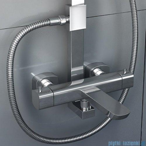 Kohlman Foxal zestaw prysznicowo-wannowy z baterią termostatyczną QW273F