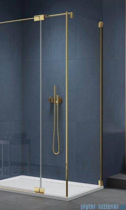 SanSwiss Cadura Gold Line ścianka boczna 120x200cm profile złote CAT31201207