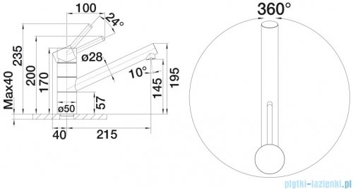 Blanco Tivo-f bateria wysokociśnieniowa kolor: chrom  518408