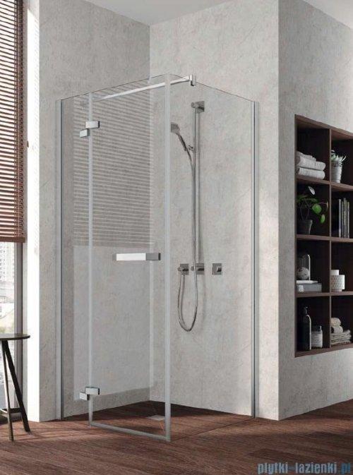 Kermi Tusca Ściana boczna, szkło przezroczyste, profile srebrne 90x200cm TUTWP09020VPK