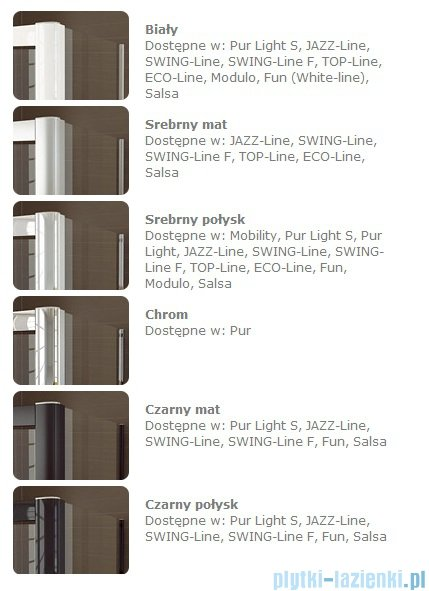 SanSwiss TOPF Ścianka boczna profil połysk 90cm TOPF09005007