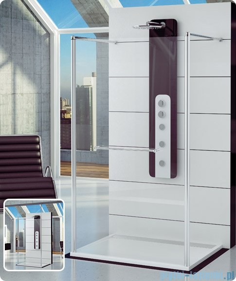 SanSwiss Fun Fus2 kabina Walk-in 140cm profil połysk FUS214005007