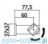 Paffoni uchwyt punktowy ruchomy Level ZSUP025CR