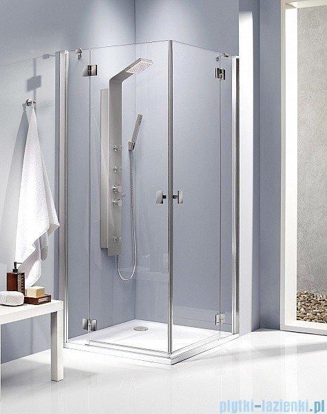 Radaway Kabina prysznicowa Essenza KDD 80x90 szkło brązowe + brodzik Doros D + syfon