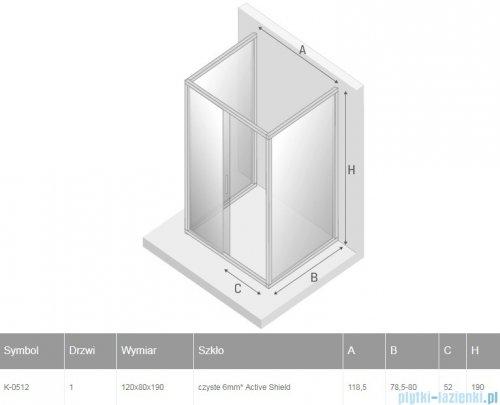 New Trendy New Varia kabina trójścienna 120x80x190 cm przejrzysta K-0512