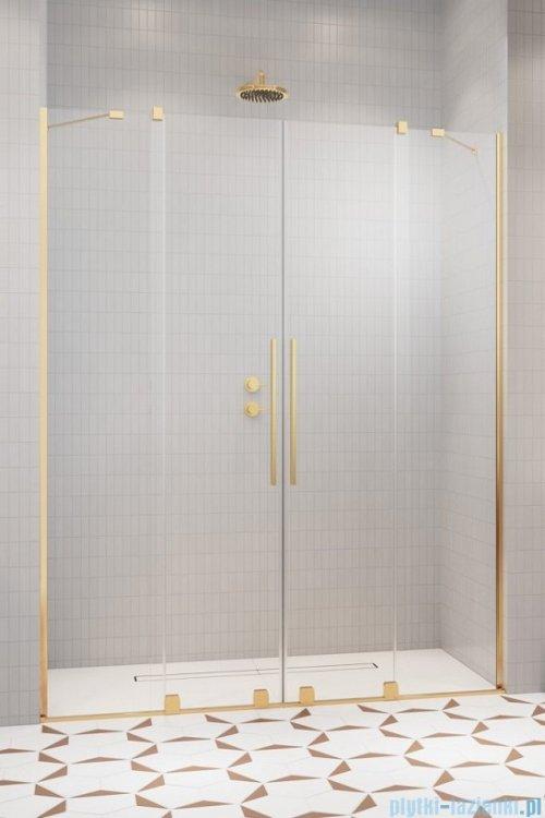 Radaway Furo Gold DWD drzwi prysznicowe 180cm szkło przejrzyste 10108488-09-01/10111442-01-01