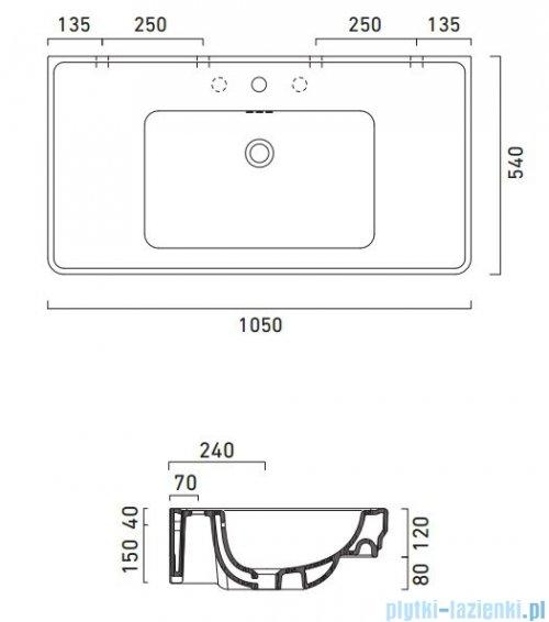 Catalano Canova Royal 105 umywalka 105x54 cm biała 1105CV00