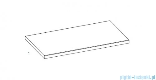 Elita blat marmurowy 91x50cm black mat 168397