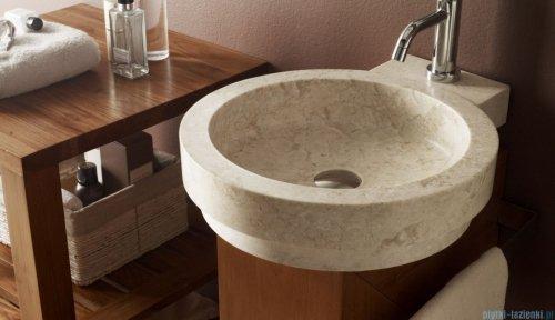 Bathco Icono umywalka nablatowa kamienna 40x45cm beige 00338