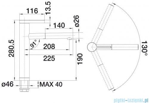Blanco Linee-s bateria wysokociśnieniowa kolor: stal szlach. matowa 517593