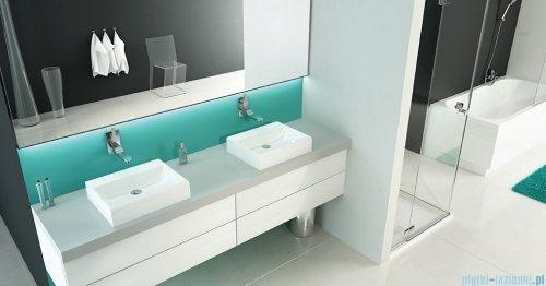 Sanplast Free Mineral umywalka prostokątna nablatowa z otworem Unbo-M/FREE 55x45x8 cm 640-280-1200-01-000