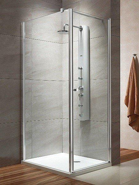 Radaway Eos KDJ kabina prysznicowa 80x80 prawa szkło przejrzyste + brodzik Delos C + syfon