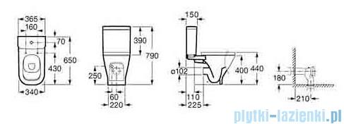 Roca Gap Miska Wc do kompaktu o/poziomy biała A342477000