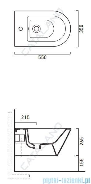 Catalano Zero Bidet 55 bidet wiszący 55x35cm biały 1BS55N00