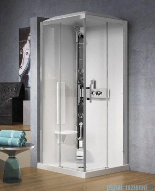 Novellini Glax 3 A90 kabina z hydromasażem 90x90 chrom GL3A90T1-1K
