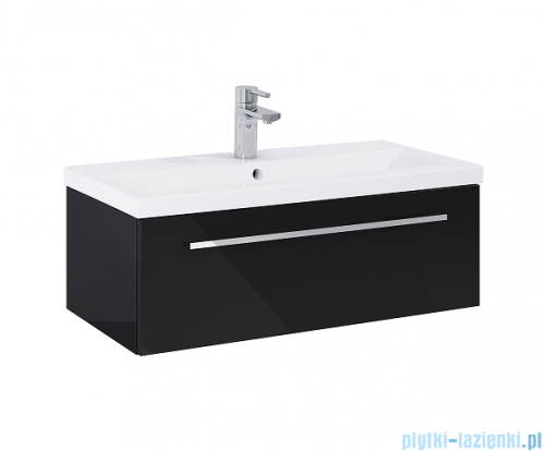 Elita Kwadro Plus szafka z umywalką 80x26x40cm black 167645/22052006N