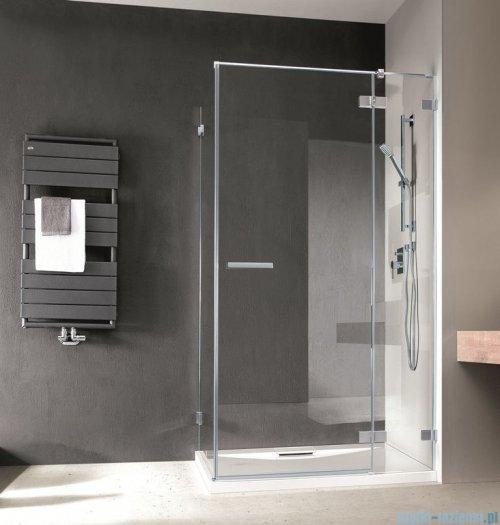 Radaway Euphoria KDJ Kabina prysznicowa 80x80 prawa szkło przejrzyste + brodzik Delos C + syfon