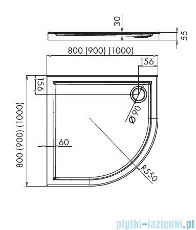 Novellini Kali R brodzik półokrągły 80x80 MNQ806-30