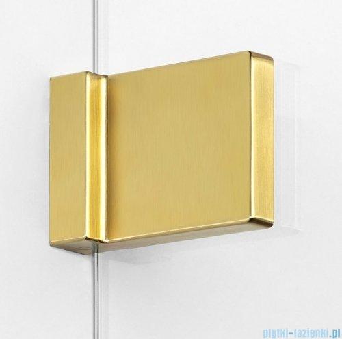 New Trendy Avexa Gold parawan nawannowy z wspornikiem prostopadłym 60x150 cm przejrzyste EXK-2005-WP