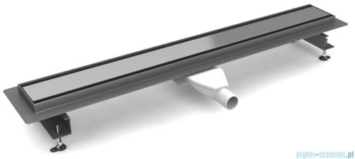 New Trendy Vimo odpływ liniowy z rusztem polerowanym 90x11x7,5 cm OL-0036