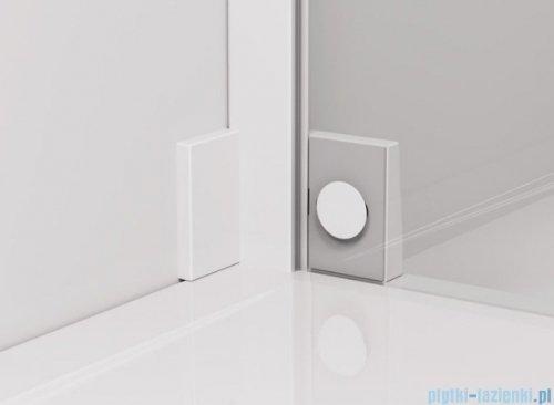 SanSwiss Cadura White Line drzwi wahadłowe 80cm jednoczęściowe lewe z polem stałym biały mat CA13G0800907