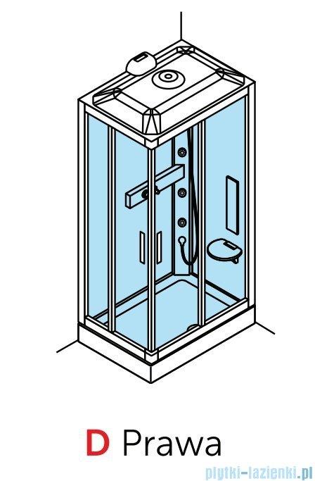 Novellini Glax 3 kabina prysznicowa z hydromasażem 100x70 lewa srebrny GL3A107ST1F-1B