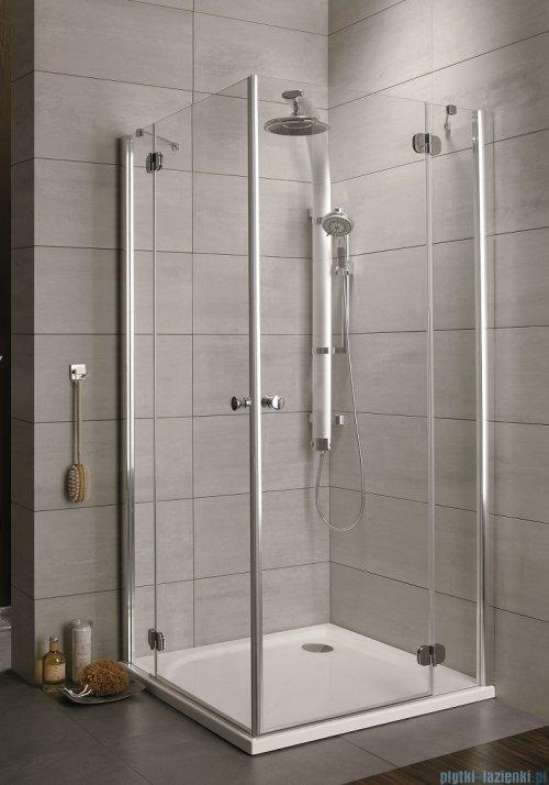 Radaway Torrenta Kdd Kabina prysznicowa 100x90 szkło przejrzyste + brodzik Doros D + syfon