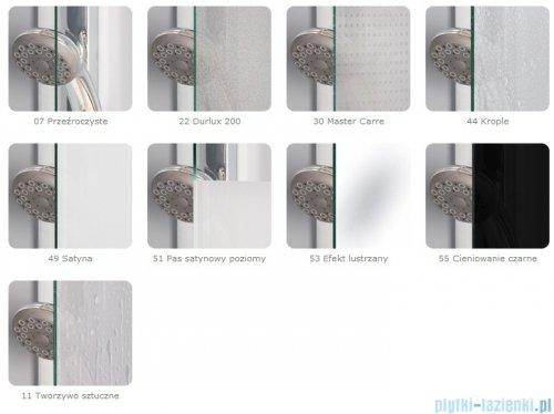SanSwiss Top-Line TOPAC Wejście narożne 70cm profil srebrny Prawe TOPD07000107