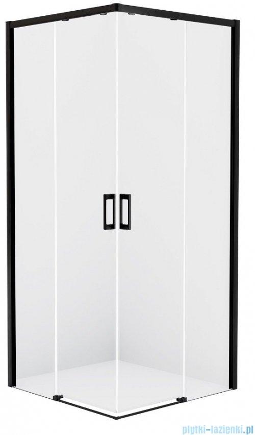 New Trendy Prime Black kabina prostokątna 80x110x200 cm przejrzyste D-0312A/D-0319A