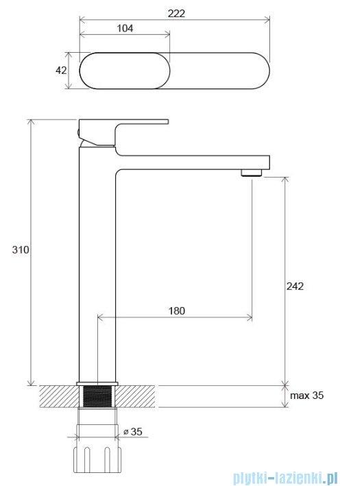 Ravak Chrome bateria umywalkowa stojąca bez korka X070100