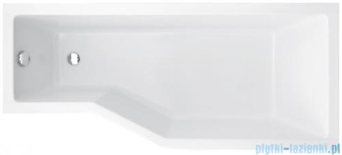 Besco Integra 170x75cm wanna asymetryczna prawa + obudowa + syfon #WAI-170-PP/#OAI-170-NS/19975